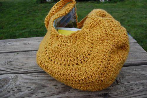 crochet summer bag - jute