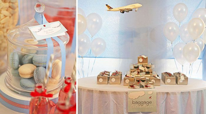 'Baggage' party bags for aeroplane theme so cute!