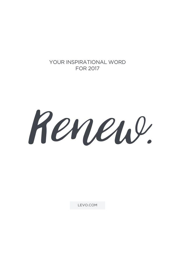 Renew - Words that will define 2017