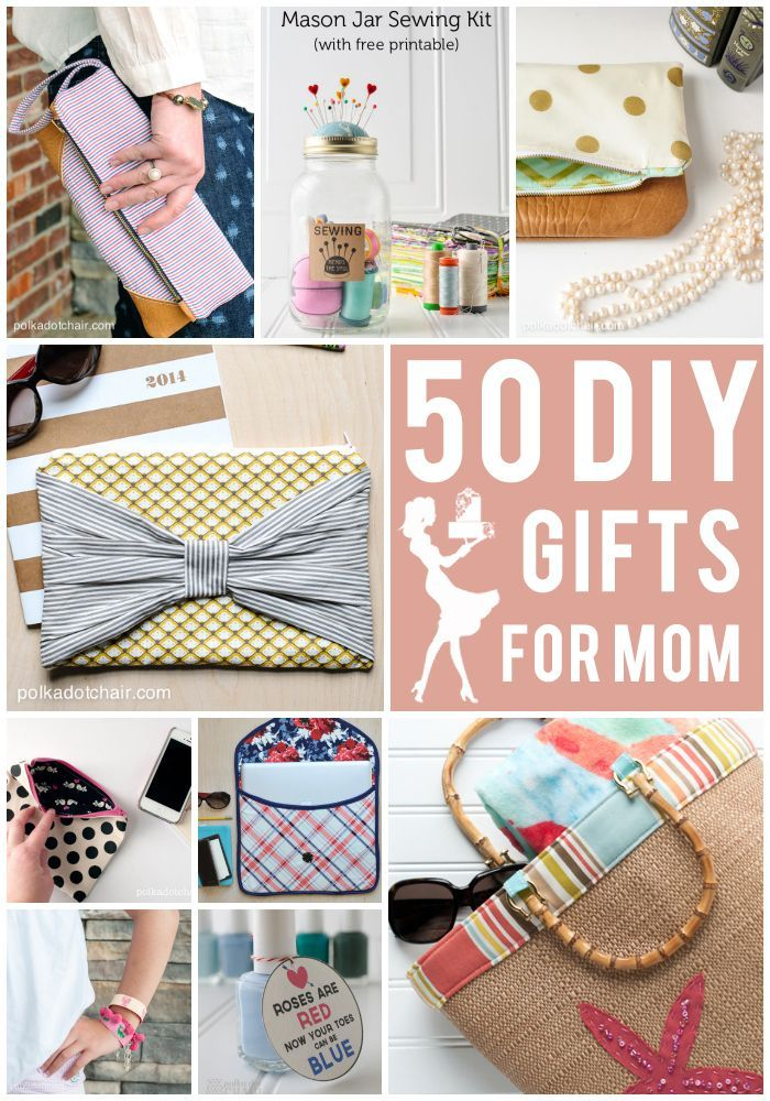50 DIY Mother's Day Gift Ideas on polkadotchair.com #DIY #MothersDaygifts