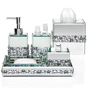silver glitter bathroom accessories. glam accessories for the bathroom 138 best MY BATH SHOWER CURTAIS SINK SETS images on Pinterest