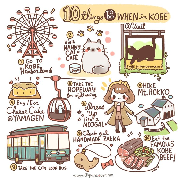 Kobeis well known, the world over, for it's amazing beef... amongst other thing. Here are 10 fun things to get up to in Kobe! How cute is that animation?? - 10 Things To Do In Kobe, Japan - Travel, Travel Advice - Asia, Japan, Kobe -Travel, Food and Home Inspiration Blog with door-to-door Travel Planner! - Travel Advice, Travel Inspiration, Home Inspiration, Food Inspiration, Recipes, Photography