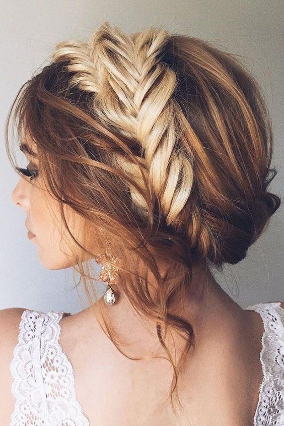 Gorgeous Wedding Hair   Formal Updo   Braided Hair   Loose and Elegant Bridal Hairstyle - trendslove - #Braided #Bridal #Elegant #Formal #Gorgeous
