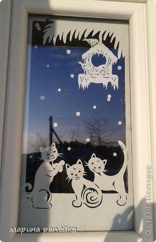 Украшение Новый год Вырезание Украшение окон в прошлом году Бумага фото 3