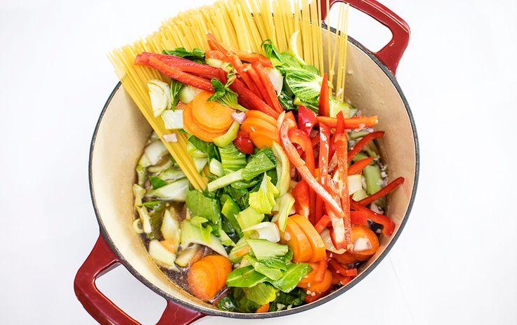 One pot pasta med smak av Asia