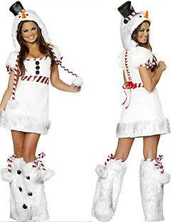 Wit Sneeuwpop Dames Kerst Kostuum