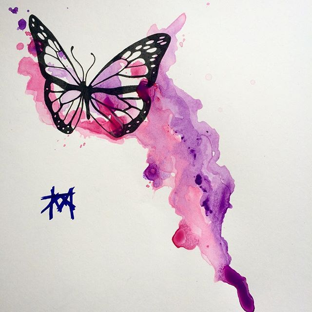 Easy Watercolor Paintings Of Butterflies 25+ beautiful Butterfl...