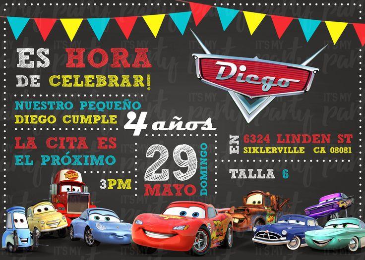 ¿Tu hijo quiere ver Cars más de 3 veces al día? :O Entonces tiene McQueenitis!! y esta invitación es para él! :D Gracias a nuestra primer clienta :D le encantó! #itsmypartymexicali #disneycars