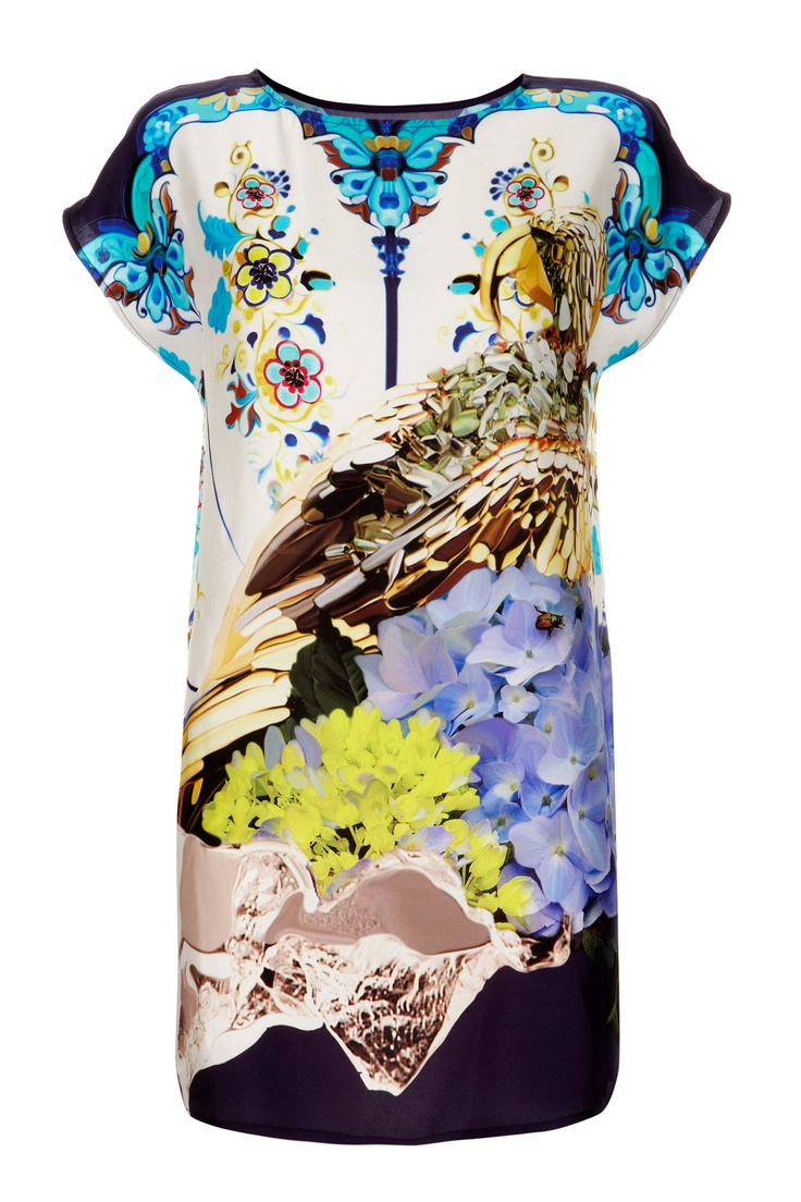 This lovely tunic from Mary Katrantzou's Spring 2012 capsule collection for Topshop is one of 10 equally bold pieces, and features the British designer's signature vibrant print – so fun for spring!