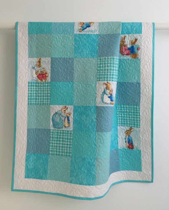 Baby Boy Quilt featuring Peter Rabbit in by KimsQuiltingStudio