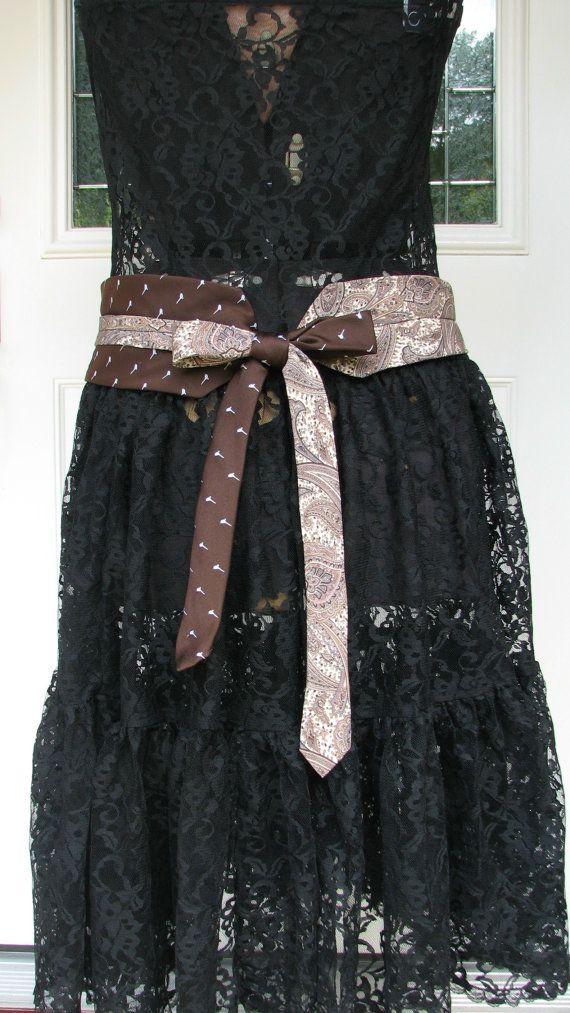 Necktie Belt Chic Belt Refashioned Necktie Belt by TieTandem