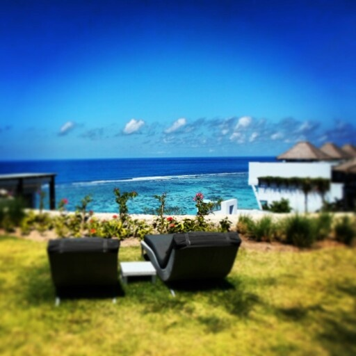 Lounging at the villa terrace overlooking the Indian Ocean www.samabe.com #beach