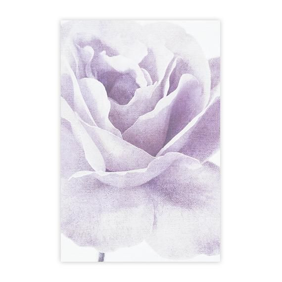 Floral Purple Rose on Bed of Roses Abstract CANVAS WALL ART Picture Print