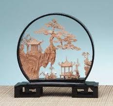 Asian cork carving