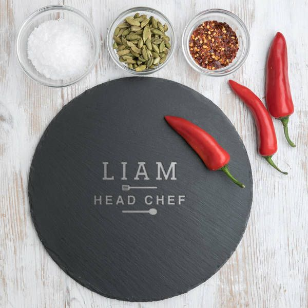 Chefs Personalised Slate Serving Board