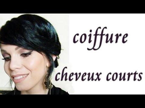 Coiffure : chignon pour cheveux courts