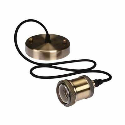 Luminaire Rétro À Suspension En Cordage - Finition Bronze - Achat / Vente plafonnier - Les soldes* sur Cdiscount ! Cdiscount