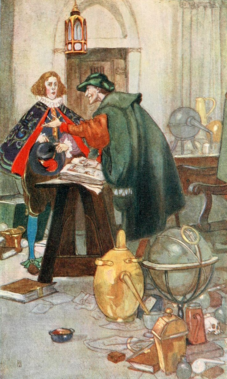 Cards on the table mathistopheles - Mephistopheles And The Student From Goethe S Faust Illustrated By Willy Pog Ny 1908