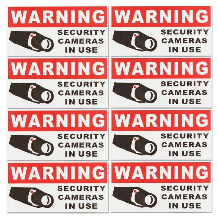 NEW 8Pcs SECURITY CAMERA IN USE  Waterproof Self-adhensive Warning Stickers Safety Signs Decal #Affiliate