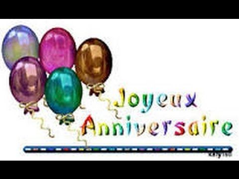 """▶Thema 2 Frans """"Joyeux Anniversaire"""" (Happy Birthday Song in French) - YouTube"""