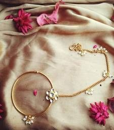Buy Kundan Flower Ring nose-ring online