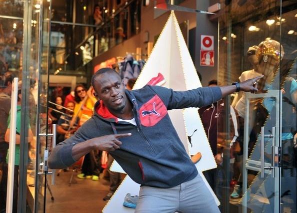Usain Bolt Photo - Usain Bolt Poses for Puma