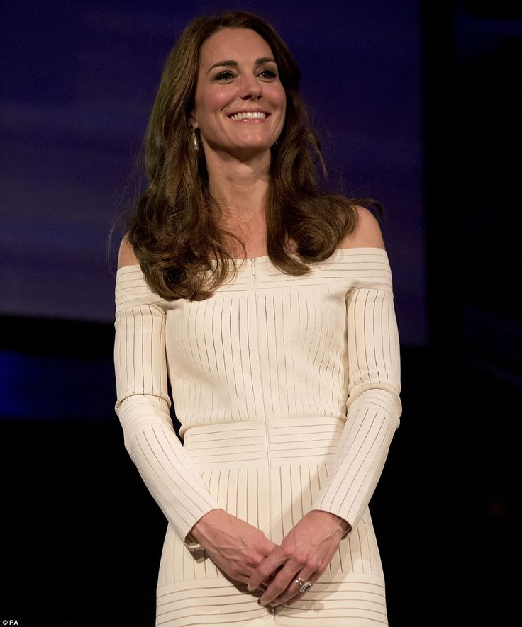The Duchess of Cambridge listens during the acceptance speech of Germany's Martin Roth, the Director of the Victoria and Albert Museum