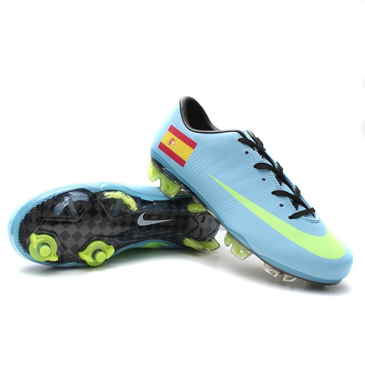 Spain New Mercurial blue football shoes