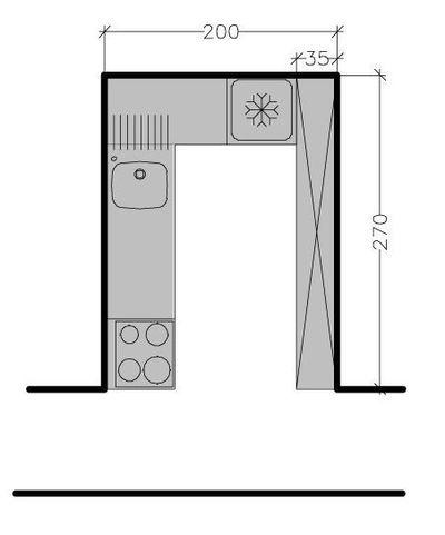 petite cuisine tous les plans de petites cuisines jusqu 6 m ctmaison - Plan Petite Cuisine En U