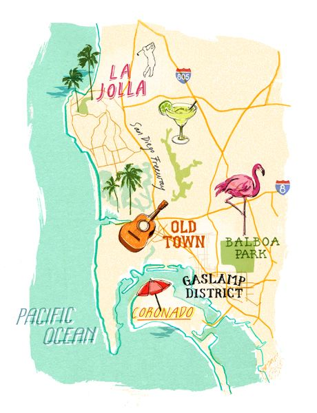 Heather Gatley - San Diego map | DESIGN /GRAPHIC etc.. | San diego ...
