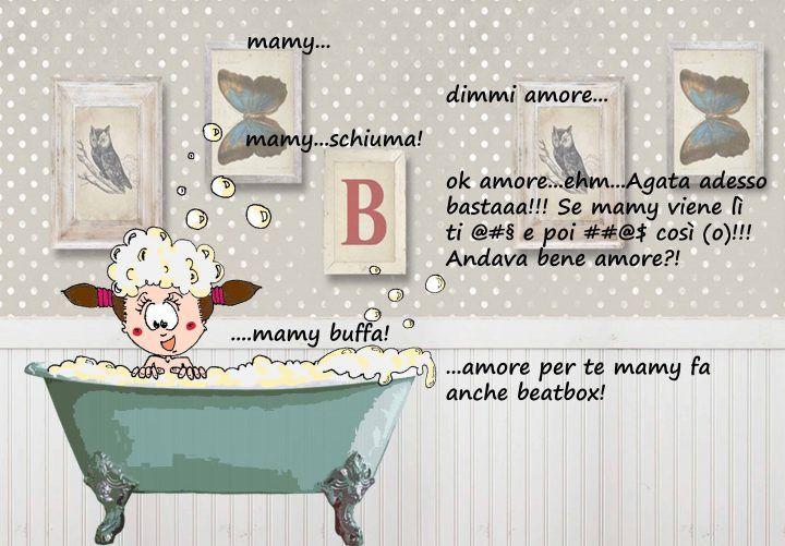 agata bubble foam biglietto personalizzato family portrait ritratto di famiglia