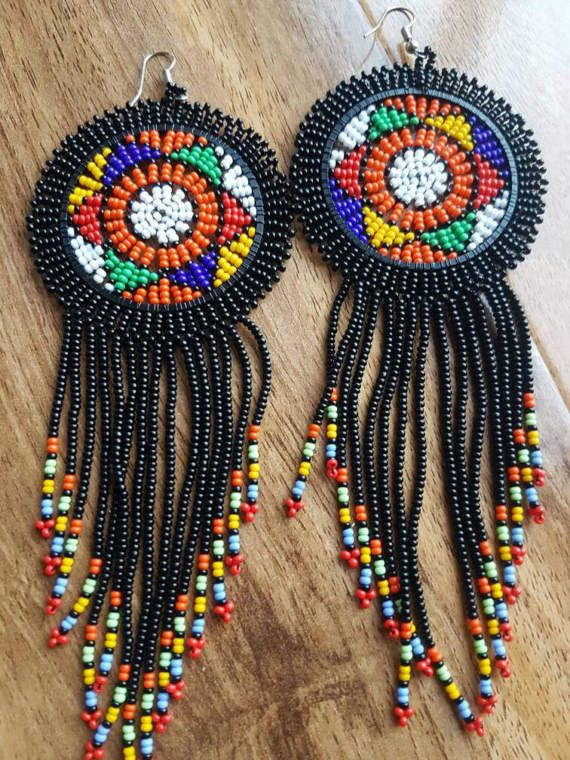 Check out this item in my Etsy shop https://www.etsy.com/uk/listing/503798842/black-beaded-earrings