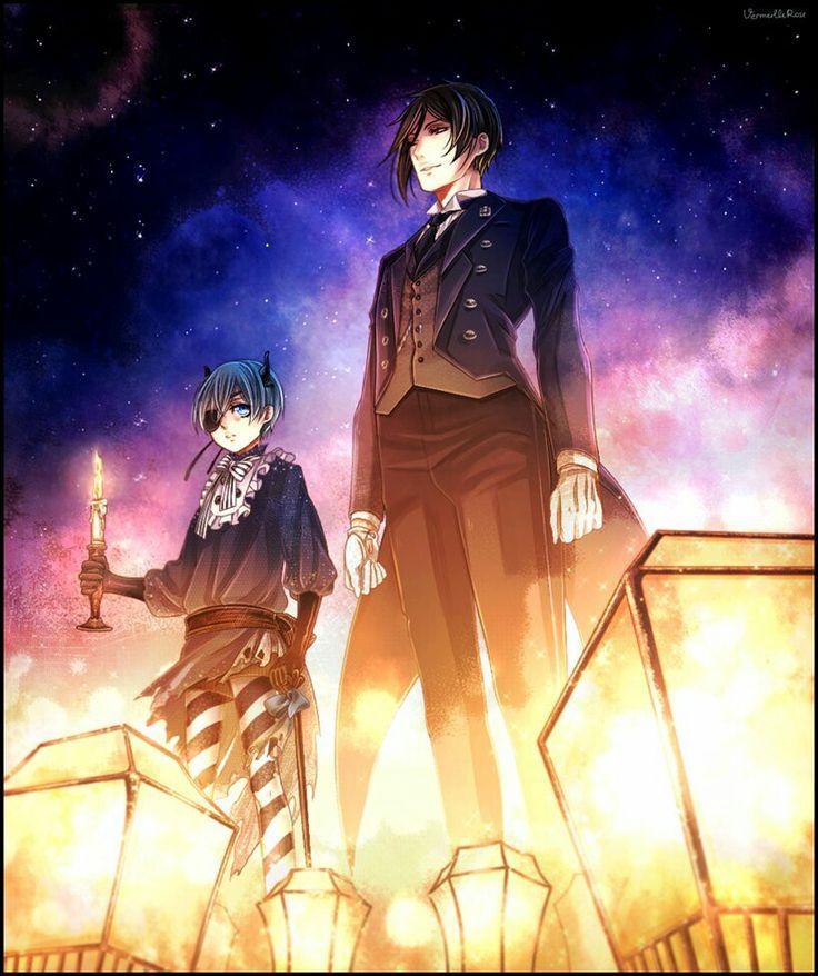 Ciel and Sebastian | Kuroshitsuji - Black Butler #Anime #Manga                                                                                                                                                                                 More