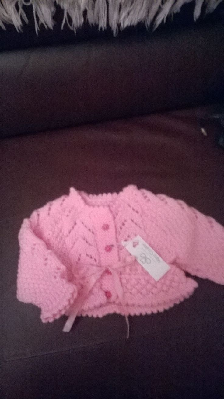 Cute little pink cardigan age 6-9 months£12+p&p