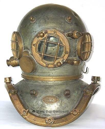Deep sea divers helmet.