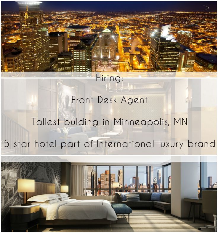 This high-end property situated in the heart of Minneapolis is looking for a qualified Front Desk Agent. In a prime location, within walking distance to top attractions, including Target Field, Target Center, Metrodome, Nicollet Mall, Minneapolis Convention Center and Minneapolis's Art and Culture district.