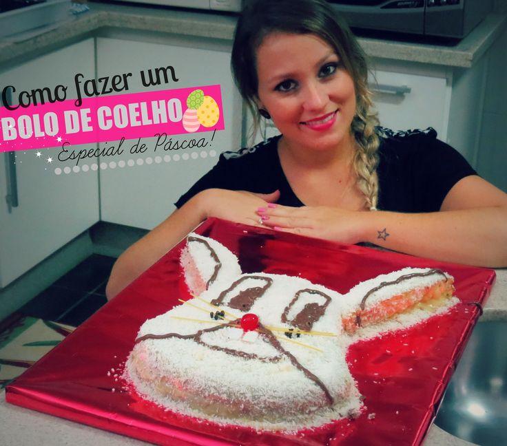 Como fazer um bolo de coelho! Especial de Páscoa