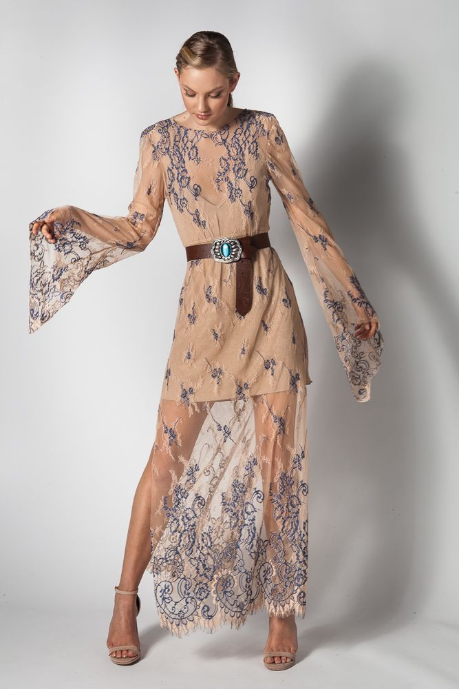 0bbf45fe04ea nerites sheer lace dress - Dresses - NIDODILEDA