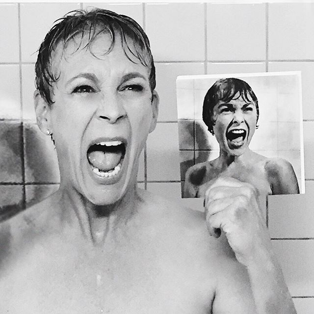 Just recreated, with help from the amazing crew, a shot by shot of my mother's famous shower scene from Hitchcock's PSYCHO for @screamqueensfox #screamqueens  Ryan Murphy and co. wrote it into a special episode and it felt right! Honoring the Royal legend that is/was/will always be, Janet Leigh. Thought all fans of the genre would love it! #honorthymother @joaquin_sedillo show debuts in a week on FOX 8pm 2hour premiere!!!!