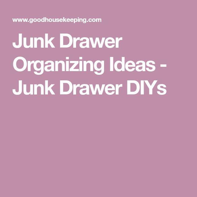 Junk Drawer Organizing Ideas - Junk Drawer DIYs