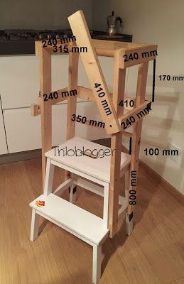 Come costruire una scaletta montessoriana (learning tower). Scaletta Montessori fai da te.