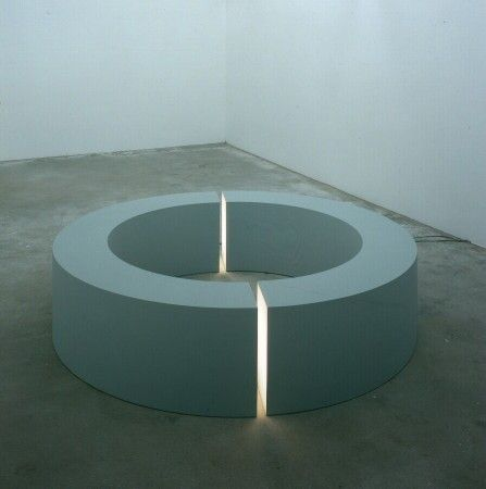 Robert Morris. Ring with Light. 1965-96. There is something inherently beautiful about the form of the circle and Morris makes this form ethereal and mysterious through the use of light as a medium. (Submitted by sleepingunderstatues)