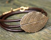 Leather Wrap Bracelet Eco Friendly Recycled by Silkstone Designs....love love this