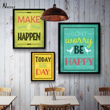Motivational Quotes Art Canvas Vintage Poster Minimalist Painting Inspiratoinal Education Picture Modern Home Office Room Decor(China (Mainland))