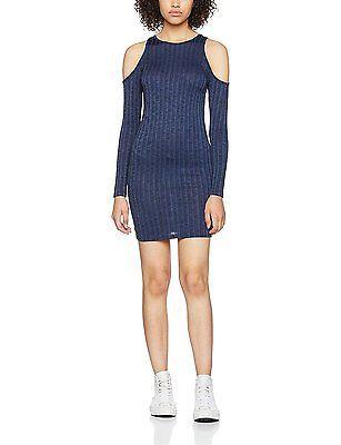 4, Blue, Miss Selfridge Petite Women's Cold Shoulder Dress NEW