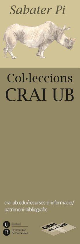 2014 - Col·leccions del CRAI UB - Fons Sabaté Pi - Cara B