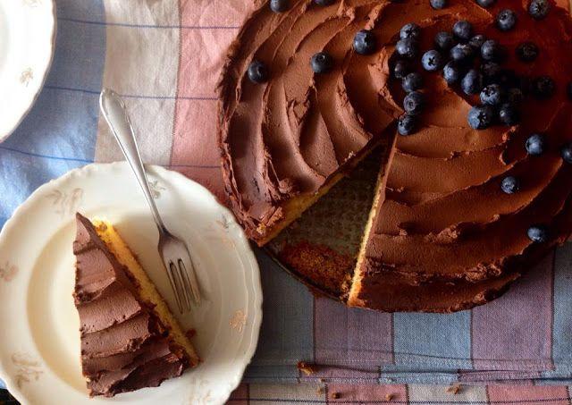 s láskou: Piškótová torta s čokoládovo-tvarohovým krémom