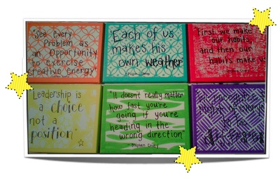 Educational quotes painted on canvas...