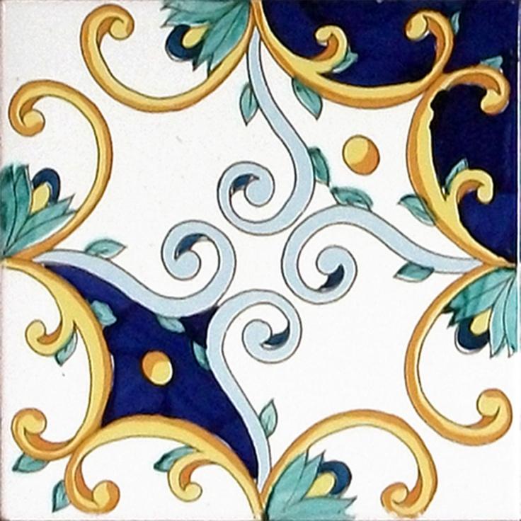 Decorative tile; Ottocento Napoletano by Ce.Vi.