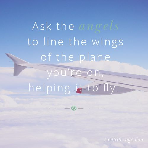 Ask the angels to line the wings of the plane you're on, helping it to fly. A handy tip for calm flights! #intuitivetips #intuition #flying #plane  Shop our guided intuitive meditations at http://shop.thelittlesage.com/category/meditations
